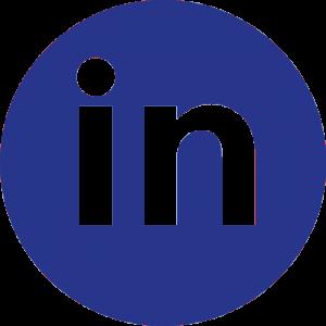Logo LinkedIn azul redondo